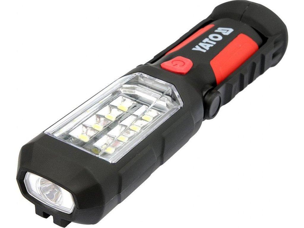 Lampa montážní 8+1 LED, hák+magnet - YT-08513