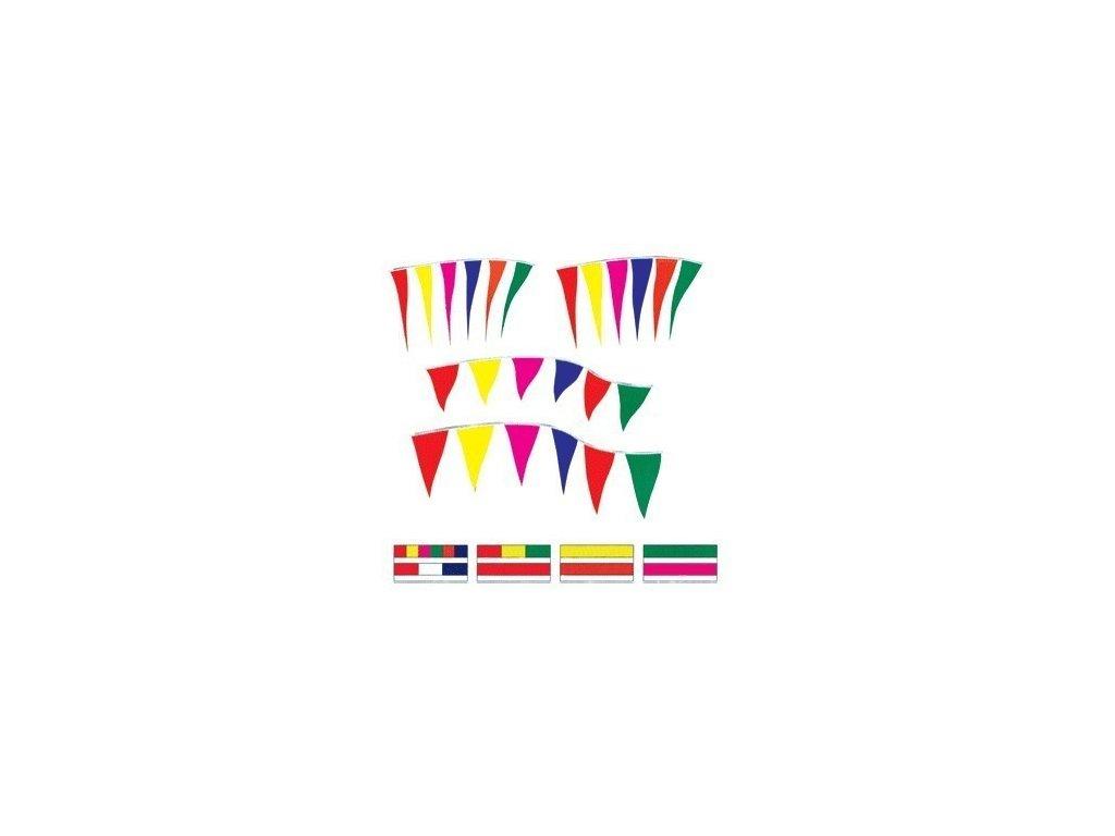 Praporky Fluorescentní - 10x45cm - 18 m