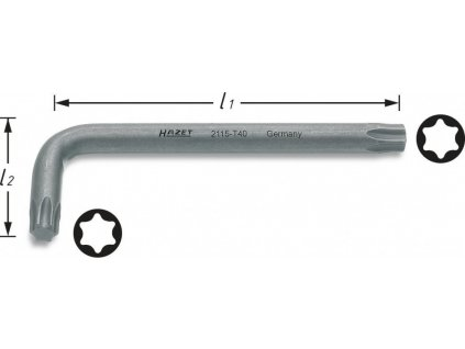 Úhlový šroubovák TORX® 2115-T8 Hazet (HA012251)