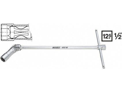 Klíč na zapalovací svíčky 4767AKF Hazet