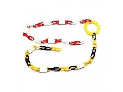 Řetěz reflexní plastový červenobílý - PRC08-32