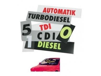 Přilnavé texty Easystick - červeno/bílé Diesel - 759264130