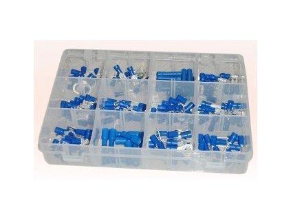 Sada modrých izolovaných konektorů 165 ks - GE898