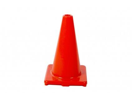 Výstražný dopravní kužel 30 cm, oranžový PVC - PTCE0301