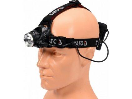 Svítilna čelovka LED XM-L2 CREE 10W, 450 lm - YT-08591