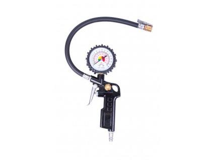 "Hustič pneu s manometrem, rychlospojka 1/4"" - AH86503"
