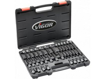 """Sada nástrčných hlavic HEX 3/8"""" v kufru, 30 ks - V6019"""