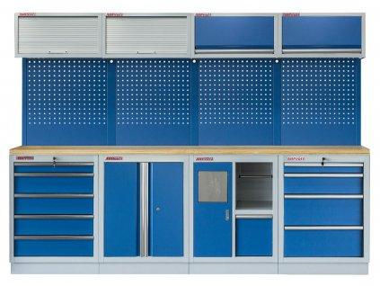Sestava PROFI BLUE dílenského nábytku 2720 x 465 x 2000 mm - MTGS1301BB