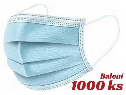 Rouška, 3 vrstvy, 1000ks, certifikovaná - RO3V1000
