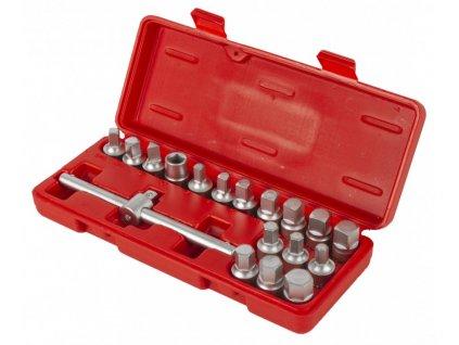 Sada nástrčných klíčů na zátky olejových van 18 dílů - H0009