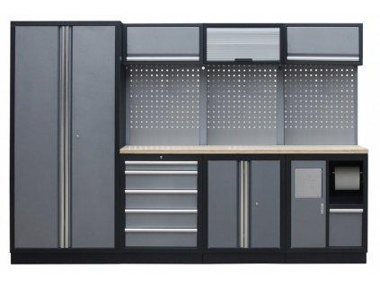 Sestava PROFI dílenského nábytku s vysokou širokou skříní 7ks - TGS1301WA Grey
