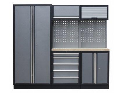 Sestava PROFI dílenského nábytku s vysokou širokou skříní 5ks - TGS1300WA Grey