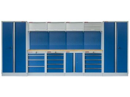 Kvalitní PROFI BLUE dílenský nábytek - 4535 x 2000 x 465 mm - MTGS1300AI Blue