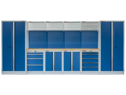 Kvalitní PROFI BLUE dílenský nábytek - 4535 x 2000 x 465 mm - MTGS1300AA3 Blue