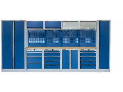 Kvalitní PROFI BLUE dílenský nábytek 4235 x 465 x 2000 mm - MTGS1300AB Blue