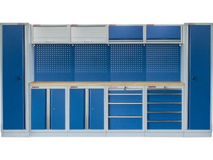 Kvalitní PROFI BLUE dílenský nábytek 3920 x 465 x 2000 mm - MTGS1300AA8 Blue