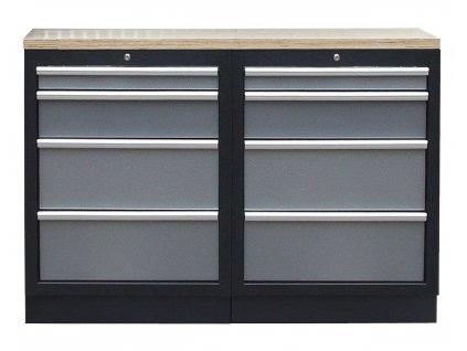 Sestava nábytku AHPROFI, vel. S, dřevěná deska - TGS1300BAL10 Grey
