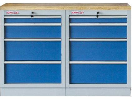 Sestava kvalitních PROFI BLUE dílenských skříněk s pracovní deskou - MTGS1300BAL10 Blue