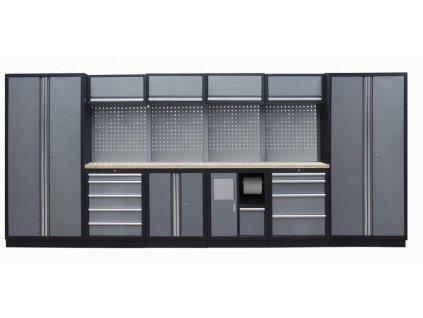 Kvalitní PROFI dílenský nábytek - 4535 x 2000 x 465 mm - TGS1301AE Grey