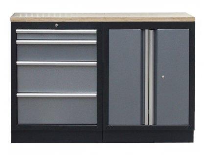 Sestava kvalitních PROFI dílenských skříněk s pracovní deskou - TGS1300BAL07 Grey