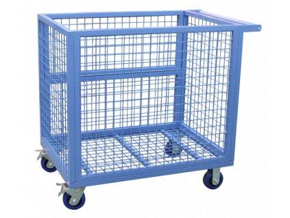 Skladový vozík s mřížovými stěnami 1120x1000x720 mm - SIB117210