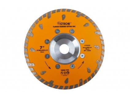 Diamantový řezný kotouč 180 mm, TURBO - HT570333