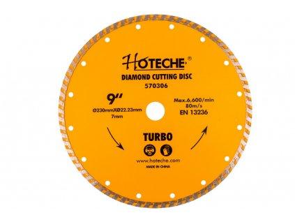 Diamantový řezný kotouč 230 mm, TURBO - HT570306