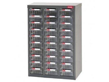 Galvanizovaný kovový organizér pro dílenský materiál a díly s 30 zásuvkami ST2-330