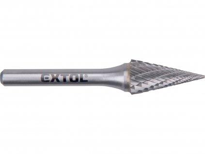 Fréza karbidová, konická-jehlan, pr.12x25mm/stopka 6mm,sek střední (double-cut)