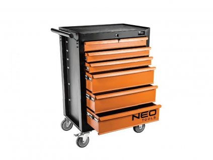 Vybavený montážní vozík 6 zásuvek s nářadím Neo Tools