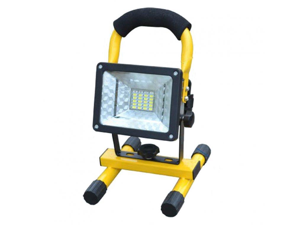Přenosný LED reflektor 30W malý + dobíjecí baterie a nabíječka