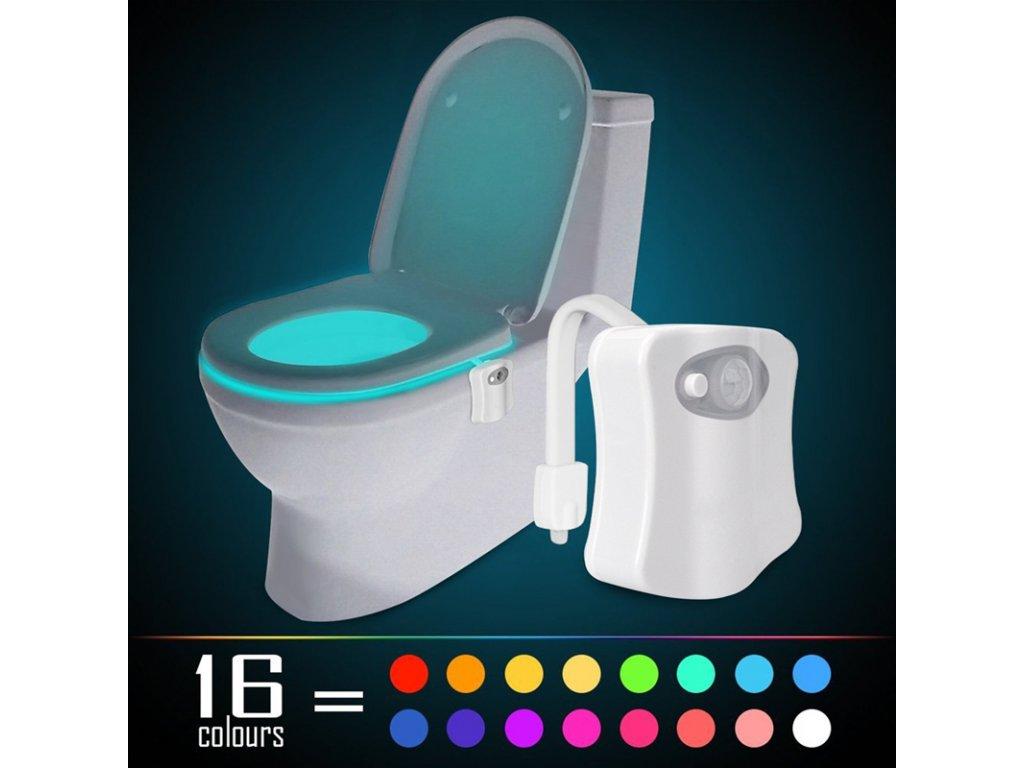 Barevné LED světlo na toaletu - 16 barev