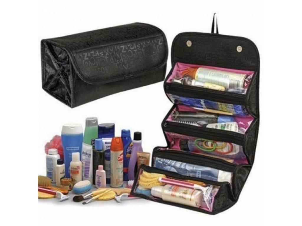 Cestovní taška na kosmetiku XL s možností zavěšení