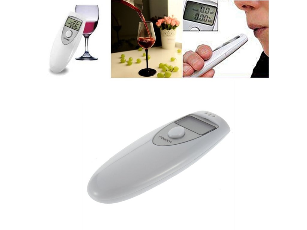 0 drop shipping Professional Pocket Digital Alcohol Breath Tester Analyzer Breathalyzer Detector Test Testing PFT 641 LCD