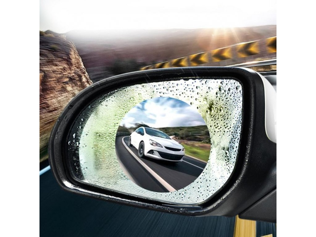 3 2Pcs Car Rearview Mirror Rain Film Side Window Film Reversing Mirror Full Screen Anti Fog Nano
