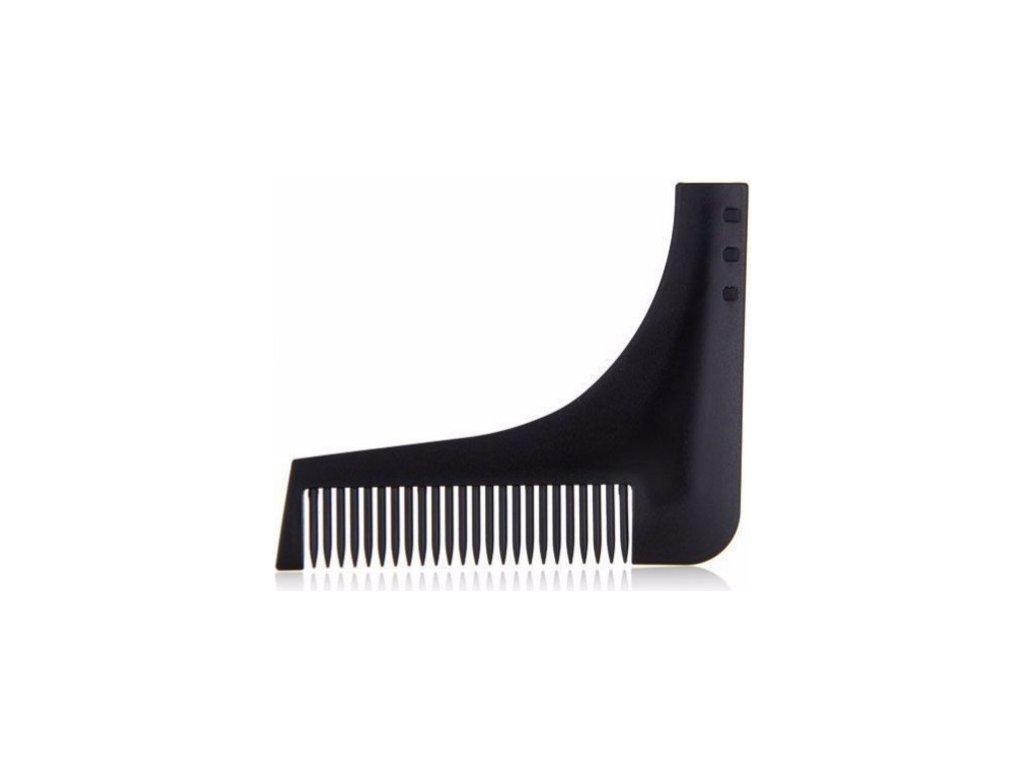 Šablona a hřebínek na střih a holení vousů