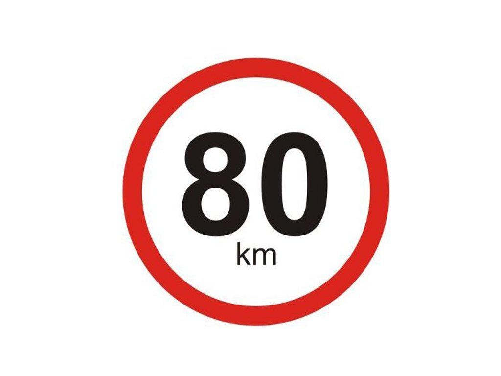 Samolepka na auto - 80 km