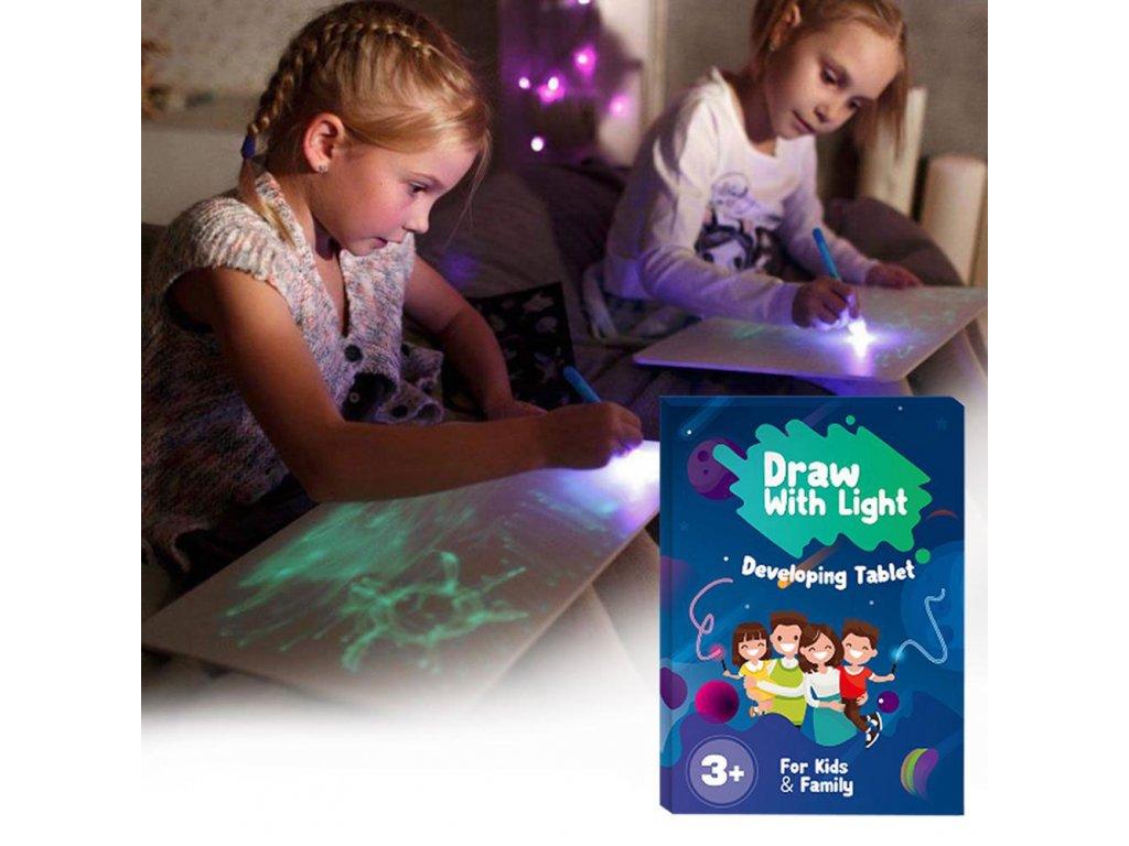 Velká kreslící tabulka A4 - Draw With Light