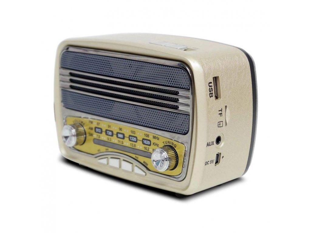 Přenosné retro rádio MK-139 v béžovém provedení