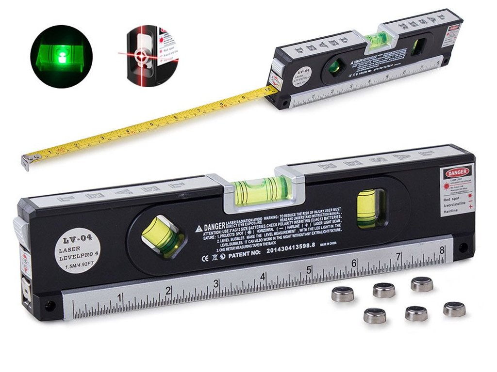 eng pl Laser level with measuring tape 250cm Measure Laser Inches 865 1 3