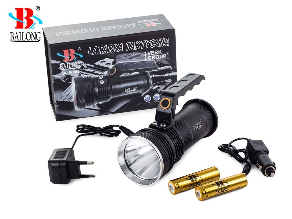 eng pl Bailong Flashlight Police Searchlight Led Cree Xp E W001 294 3 3