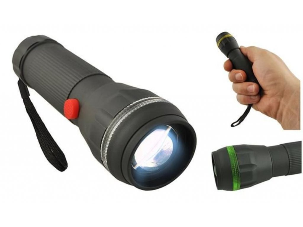 107372 rucni led svitilna flashlight zoom 3w
