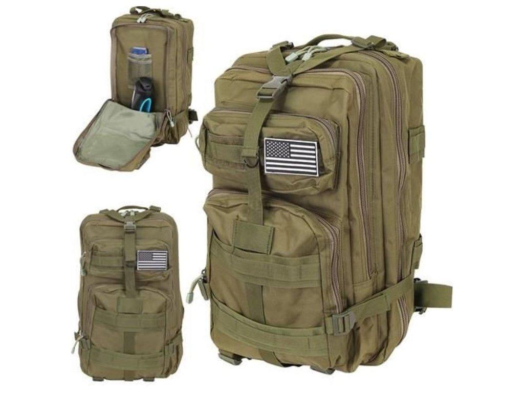 107435 vojensky batoh 38l zeleny