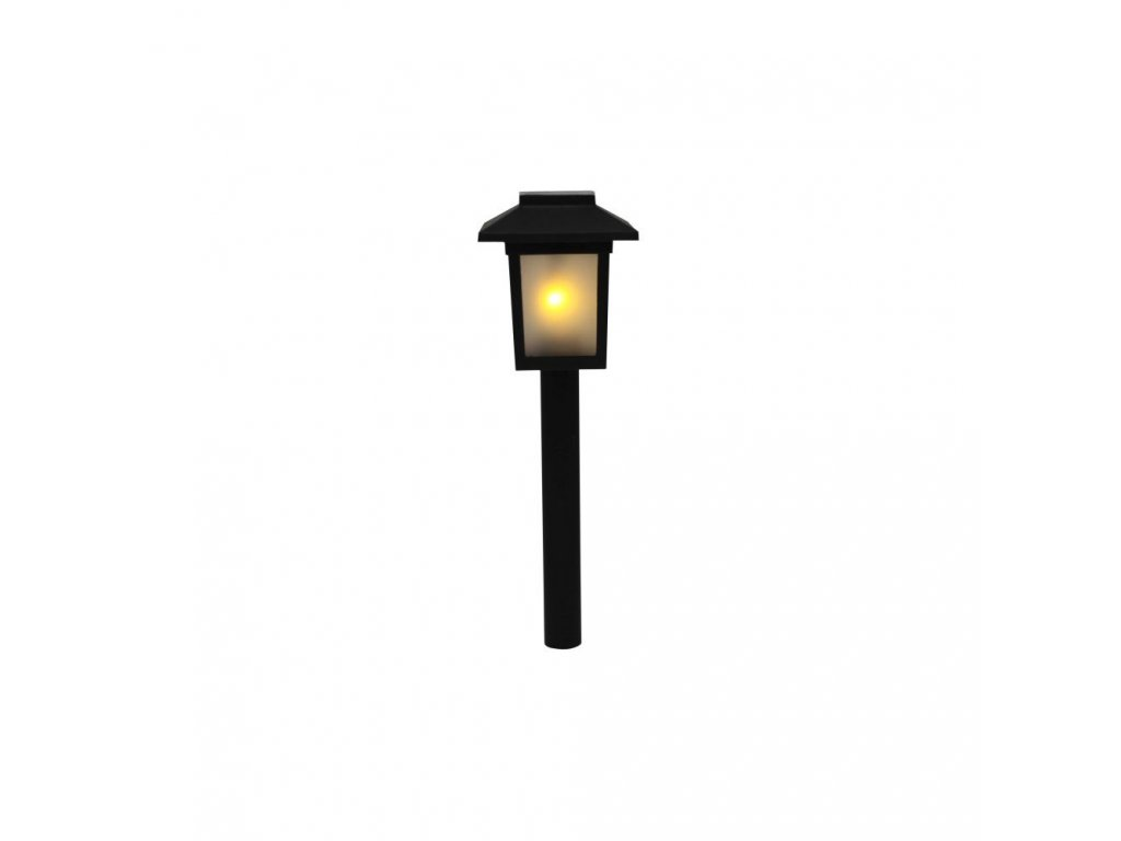 107294 solarni lampa s motivem plamene 34 5 cm