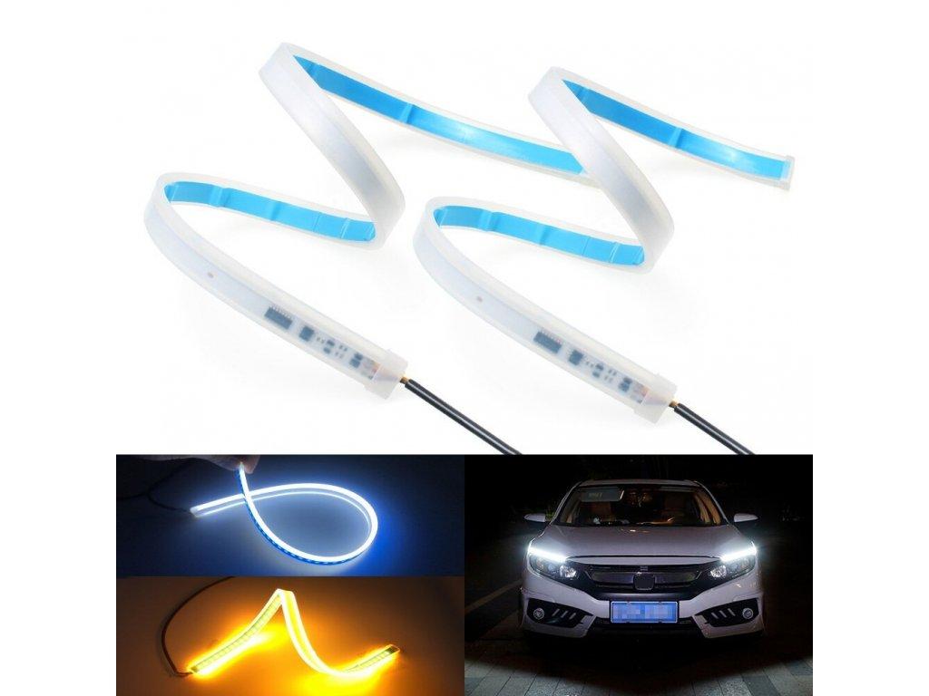 2x LED DRL denní svícení s funkcí blinkru 45cm