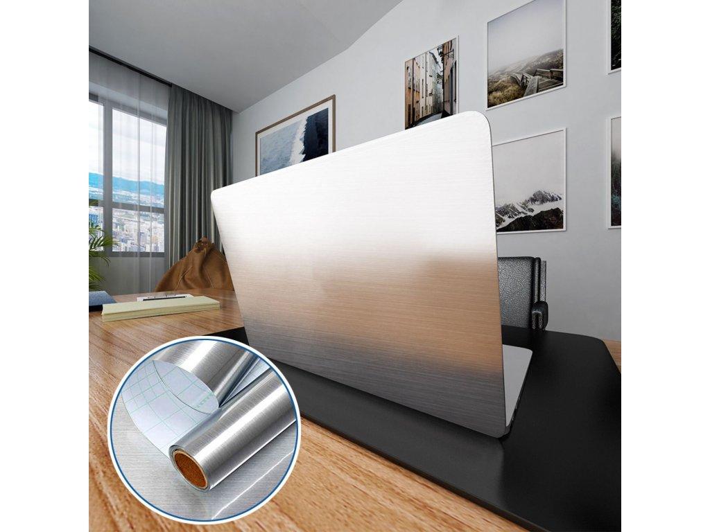 Samolepící stříbrná tapeta