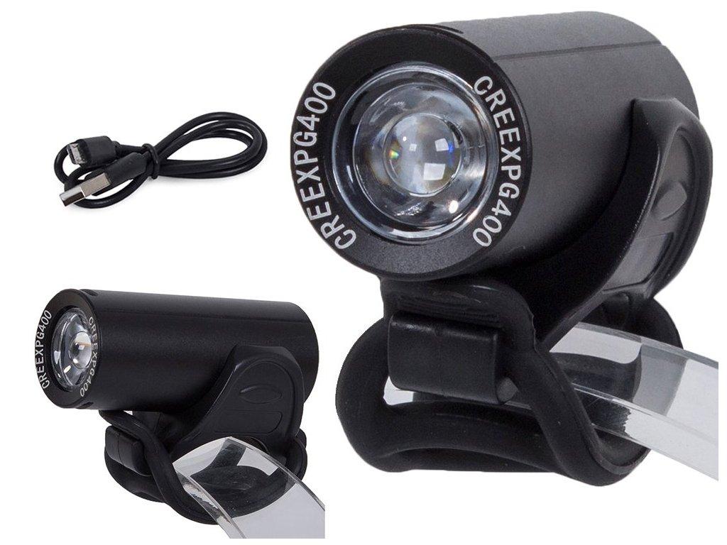 eng pl Bicycle light front flashlight led lamp 2225 1