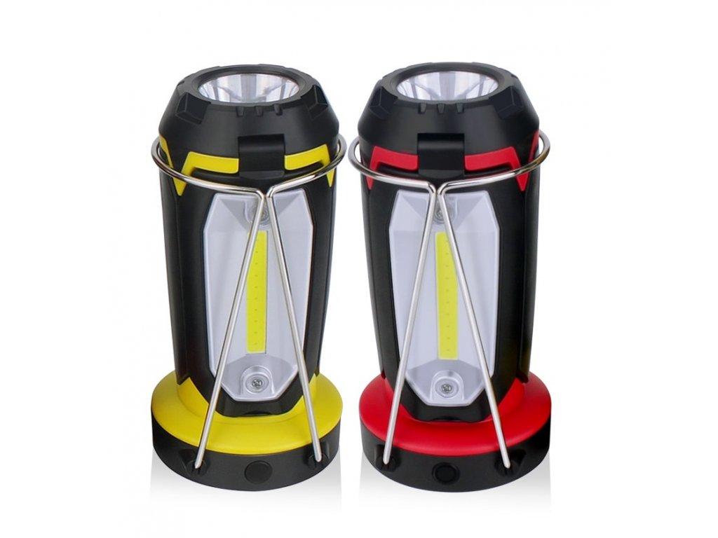 Přenosná multifunkční lampa se svítilnou 2v1 XPE+COB