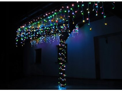 112866 3 vanocni svetelny zaves venkovni vnitrni 500 led 34m barevne rampouchy