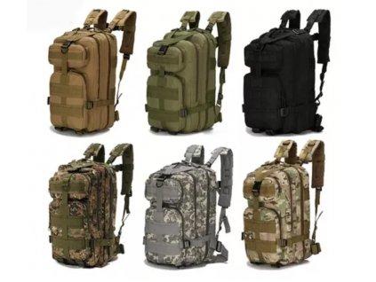 Vojenský taktický batoh HRT 28l (Varianta černý (2))